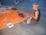 Sidewalk artist in Koln