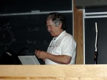 Alan Kay preopares for his talk