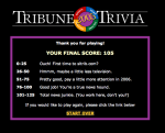 I scored 105 or 125 on the Tribune News Trivia Quiz