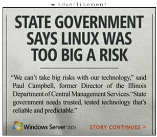 State government says Linux is risky