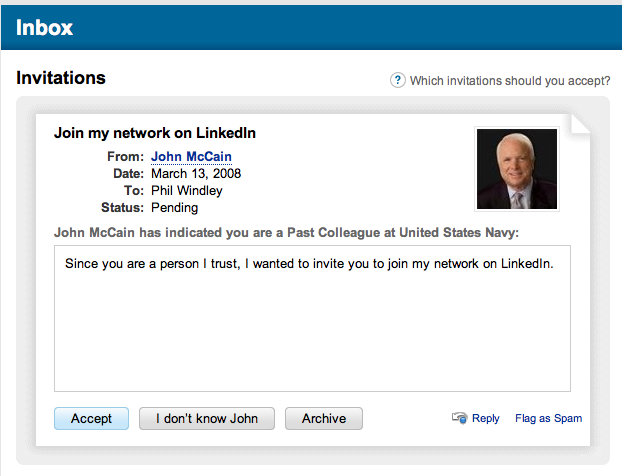 John McCain on LinkedIn