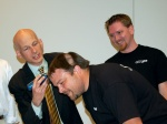 Seth Godin shaves Phil Burns' head
