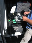 Slicing the fiber inside the FOSC
