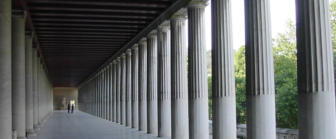 The restored Stoa of Attalos in Athens